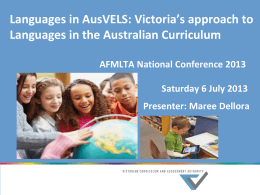 Languages in the Victorian curriculum -