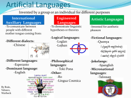 Artificial Languages - Universidad Antonio de