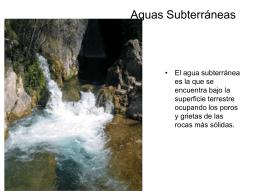 Aguas Subterráneasa