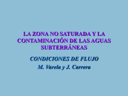 LA ZONA NO SATURADA Y LA CONTAMINACIÓN DE LAS