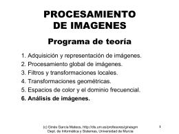 TEMA 6. Análisis de Imágenes