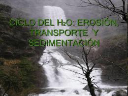 CICLO DEL H2O: EROSIÓN, TRANSPORTE Y SEDIMENTACIÓN