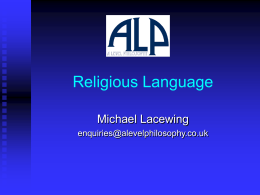 Religious Language - A Level Philosophy