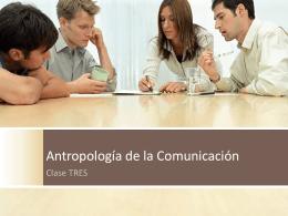 Antropología de la Comunicación