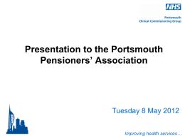Title here - NHS Portsmouth Clinical Commissioning