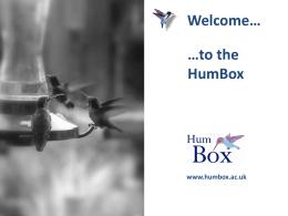 HumBox promotional presentation