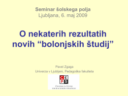 Diapozitiv 1 - University of Ljubljana