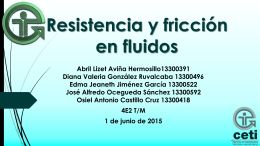 Resistencia y fricción en fluidos