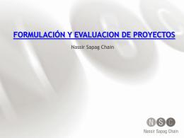 Curso PREPARACIÓN Y EVALUACIÓN DE PROYECTOS