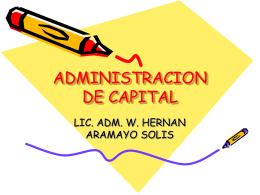 ADMINISTRACIÓN DE CAPITAL