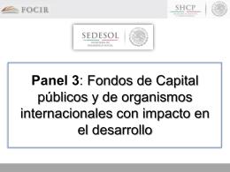 Panel 3: Fondos de Capital públicos y de