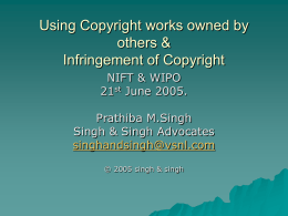Using Copyright works used by others