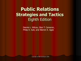 Public Relations Strategies and Tactics Eighth