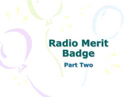 Radio Merit Badge