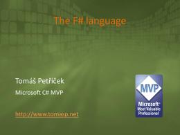 Úvod do jazyka F#