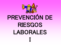PREVENCIÓN DE RIESGOS LABORALES I