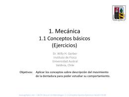 1. Mecánica 1.1 Conceptos básicos