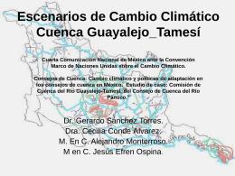 Escenarios de Cambio Climático. Cuenca
