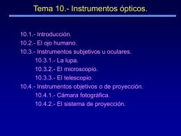 Tema 9 – Óptica. Principios Generales.