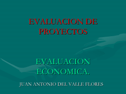 EVALUACION ECONOMICA.