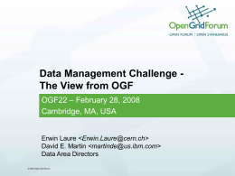 Data Management Challenge
