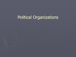 Political Organization and the Maintenance of