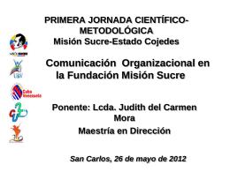 PRIMERA JORNADA CIENTÍFICO