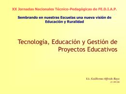 Tecnología, Educación y Gestión de Proyectos