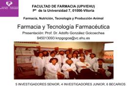 Farmacia y Tecnología Farmacéutica