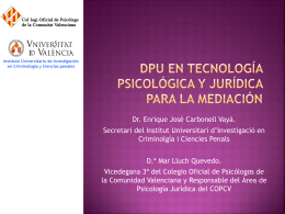DPU en Tecnología Psicológica y Jurídica para la