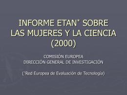 INFORME ETAN (Red Europea de Evaluación de