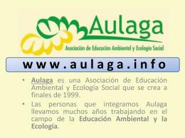 Diapositiva 1 - AULAGA Asociación de Educación