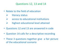 Qs 12, 13 & 14