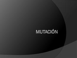 MUTACIÓN - José Luis González Recio