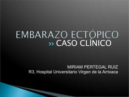 EMBARAZO ECTÓPICO - Sociedad Ginecologica