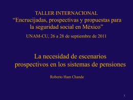 Colegio Nacional de Actuarios México DF, 17 de