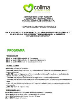 Diapositiva 1 - Fundación Produce Colima, A.C.