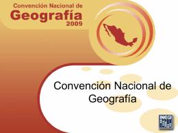 Convención Nacional de Geografía