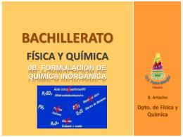 Física y Química 1º de Bachillerato