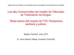 Los TTAs desde los componentes sanitario y