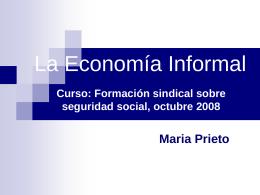 La Economía informal