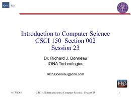 Introduction to Computer Science CS50 Section 001