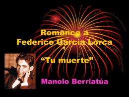 Romance a Federico García Lorca