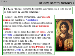 ORIGEN, OBJETO Y METODO, 1