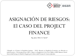 ¿Qué es un Project Finance?