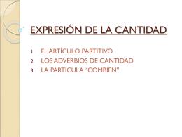 EXPRESIÓN DE LA CANTIDAD