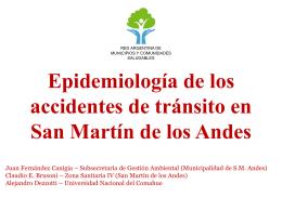 Epidemiología de los accidentes de tránsito en San