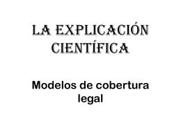 La explicación científica