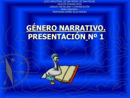 """GENERO NARRATIVO - Liceo Industrial """"Agustín"""