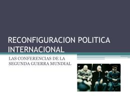 Diapositiva 1 - Política Internacional